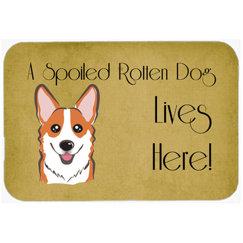 Caroline's Treasures Corgi Spoiled Dog Lives Here Kitchen/Bath Mat