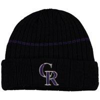 Colorado Rockies New Era Youth On-Field Sport Knit Hat - Black - OSFA