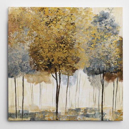 Wexford Home 'Metallic Forest I' by Nan Painting Print on Wrapped