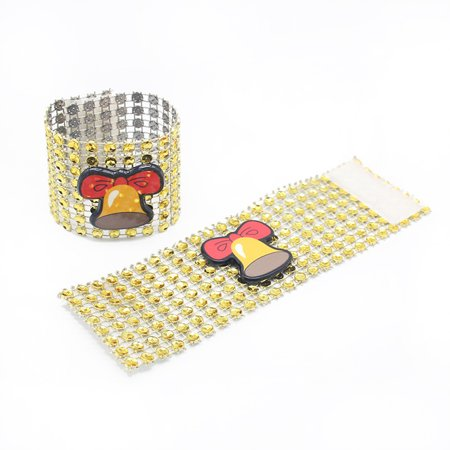 LeKing 9PCS Christmas Napkin Rings Santa Serviette Buckles Holders for Dining Table Holiday Decorations - image 6 of 9