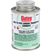 OATEY ABS TO PVC TRANSITION CEMENT, GREEN, 4 OZ.