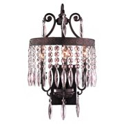 Worldwide Lighting Enfield 3-Light Crystal Wall Sconce