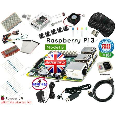 Raspberry Pi 3 B+ Ultimate Starter Kit Wifi HDMI, Breadboard SD Card Class 10