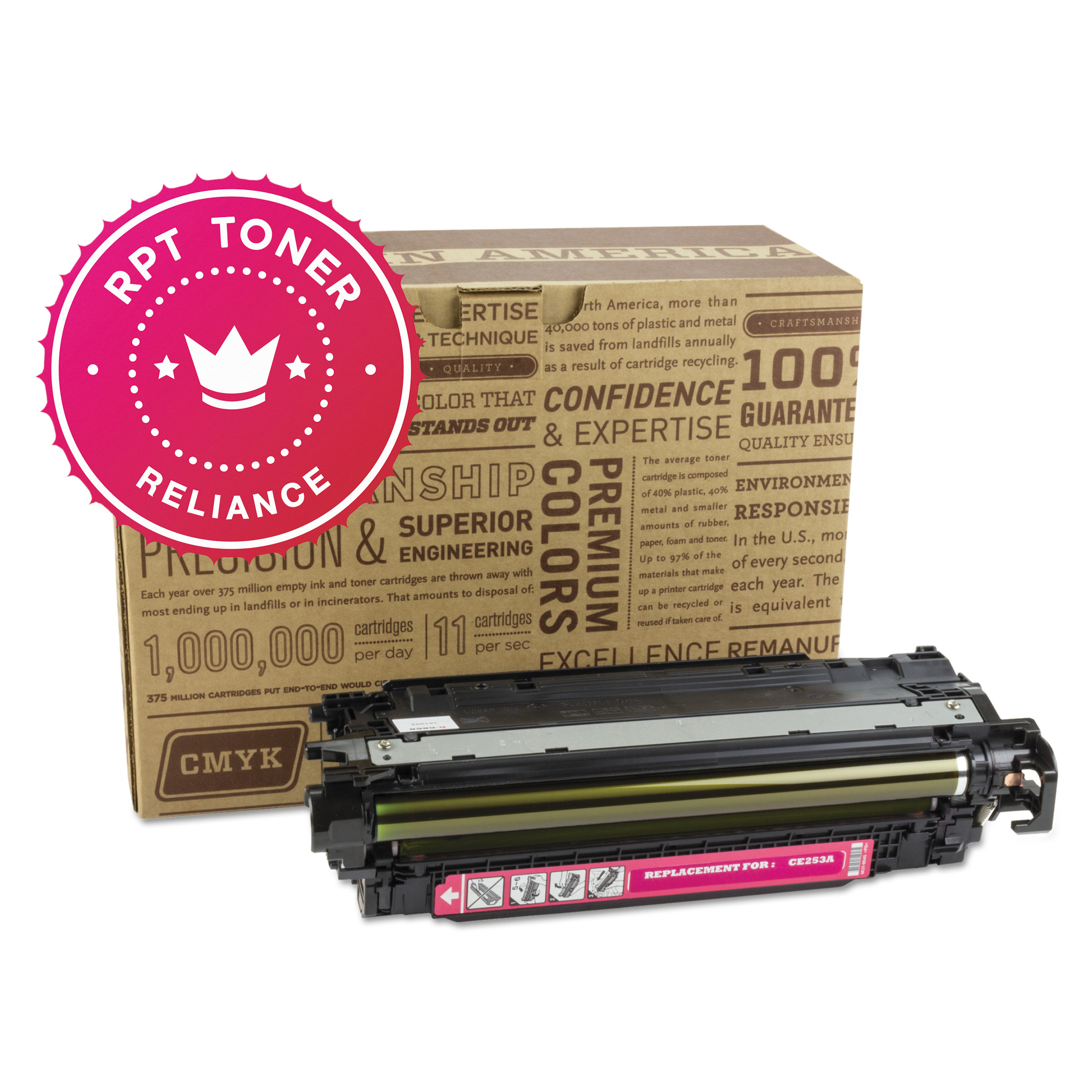 Reliance Remanufactured CE253A (504A) Toner, Magenta