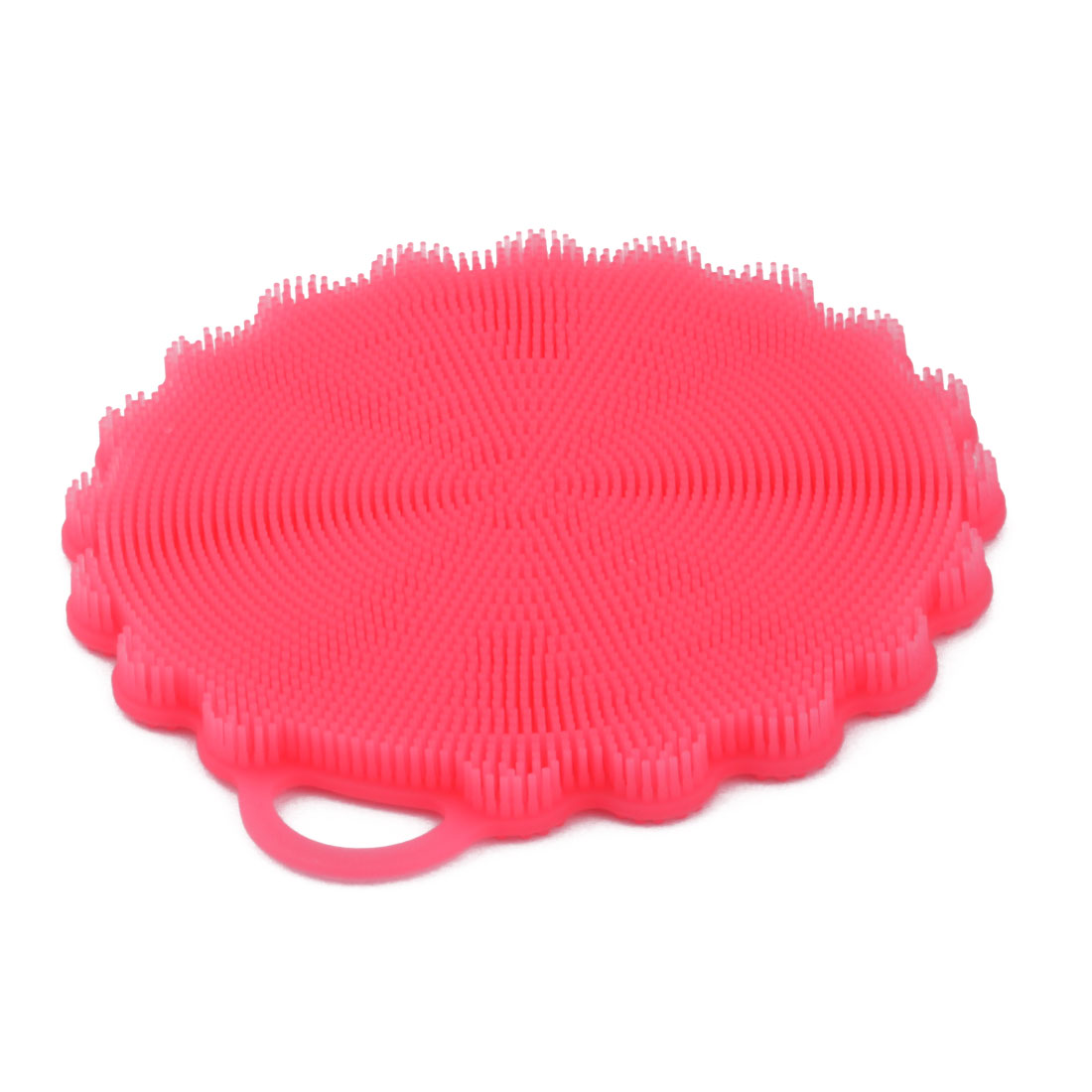 Household Kitchen Silicone Flower Shaped Spoon Washing Cleaning Brush Pad Red - image 4 of 4
