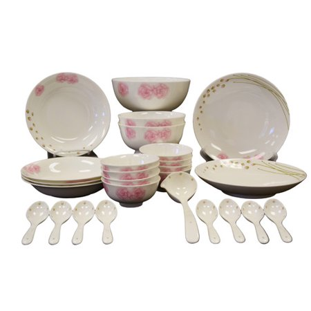 Auratic Inc  Chun Ping Bone China 26 Piece Dinnerware Set  Service For 8