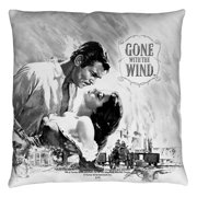 Gone With The Wind Bw Poster Throw Pillow White 14X14