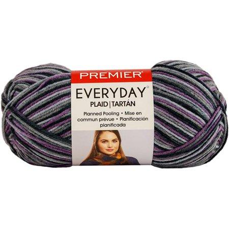 Premier Yarns Everyday Plaid-Purple Grey Plaid Yarn Dyed Plaid Shirt