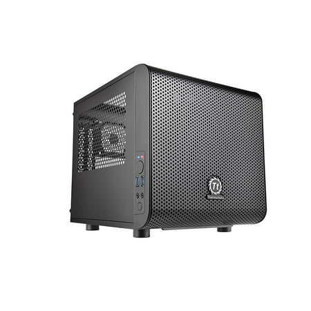 Thermaltake Core V1 mITX Small Form Factor Cube Gaming Desktop Chassis -  CA-1B8-00S1WN-00
