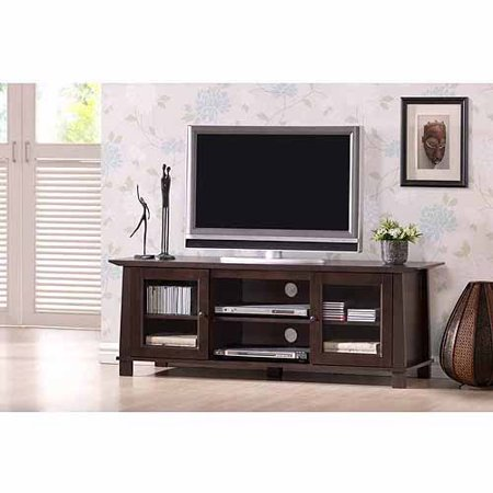 wholesale interiors havana dark brown wood modern tv stand for tvs up to 55. Black Bedroom Furniture Sets. Home Design Ideas
