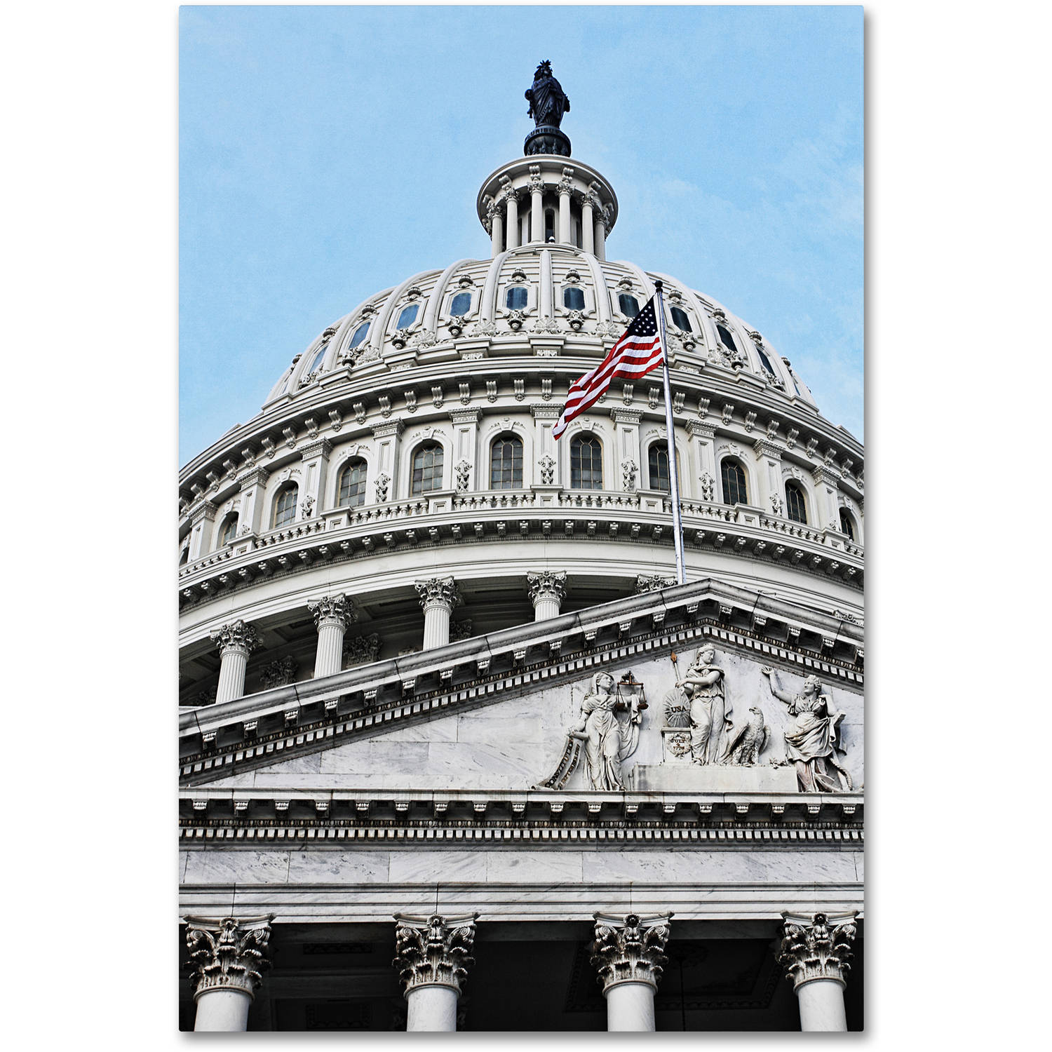 "Trademark Fine Art ""Dome of the US Capitol"" Canvas Art by Gregory O'Hanlon"
