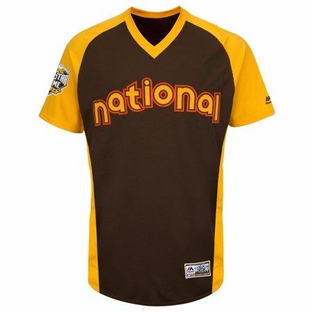 d67b28da7 2016 NL All Star MLB Majestic Men s Brown Authentic Cool Base BP Jersey -  Walmart.com