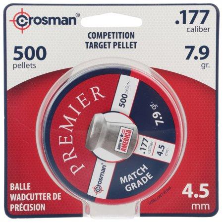 Canary Pellets - Crosman Premier Match 500 match grade pellets in a tin. LM77