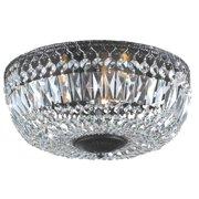 The Lighting Store Emilia 12-inch Antique Black Crystal Flush Mount Chandelier