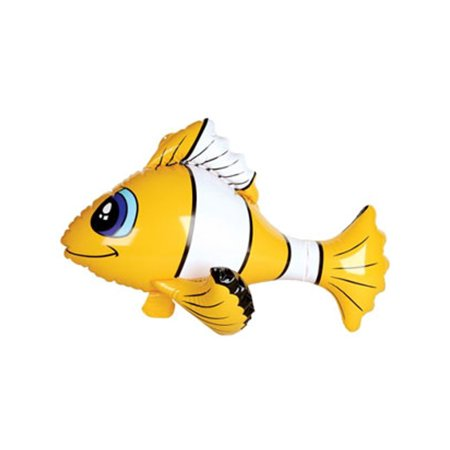 Fish Pinata (inflatable yellow tropical clown fish balloon)