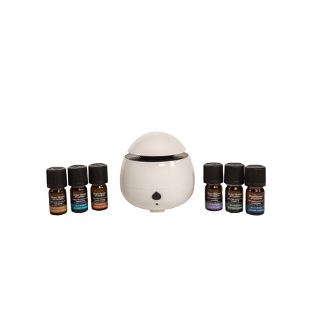 Better Homes & Gardens 100% Pure Essential Oil 7 Piece Cool Mist Ultrasonic Aroma Diffuser Set, White