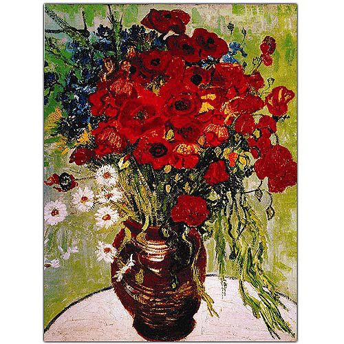 "Trademark Art ""Daisies and Poppies"" Canvas Art by Vincent van Gogh"