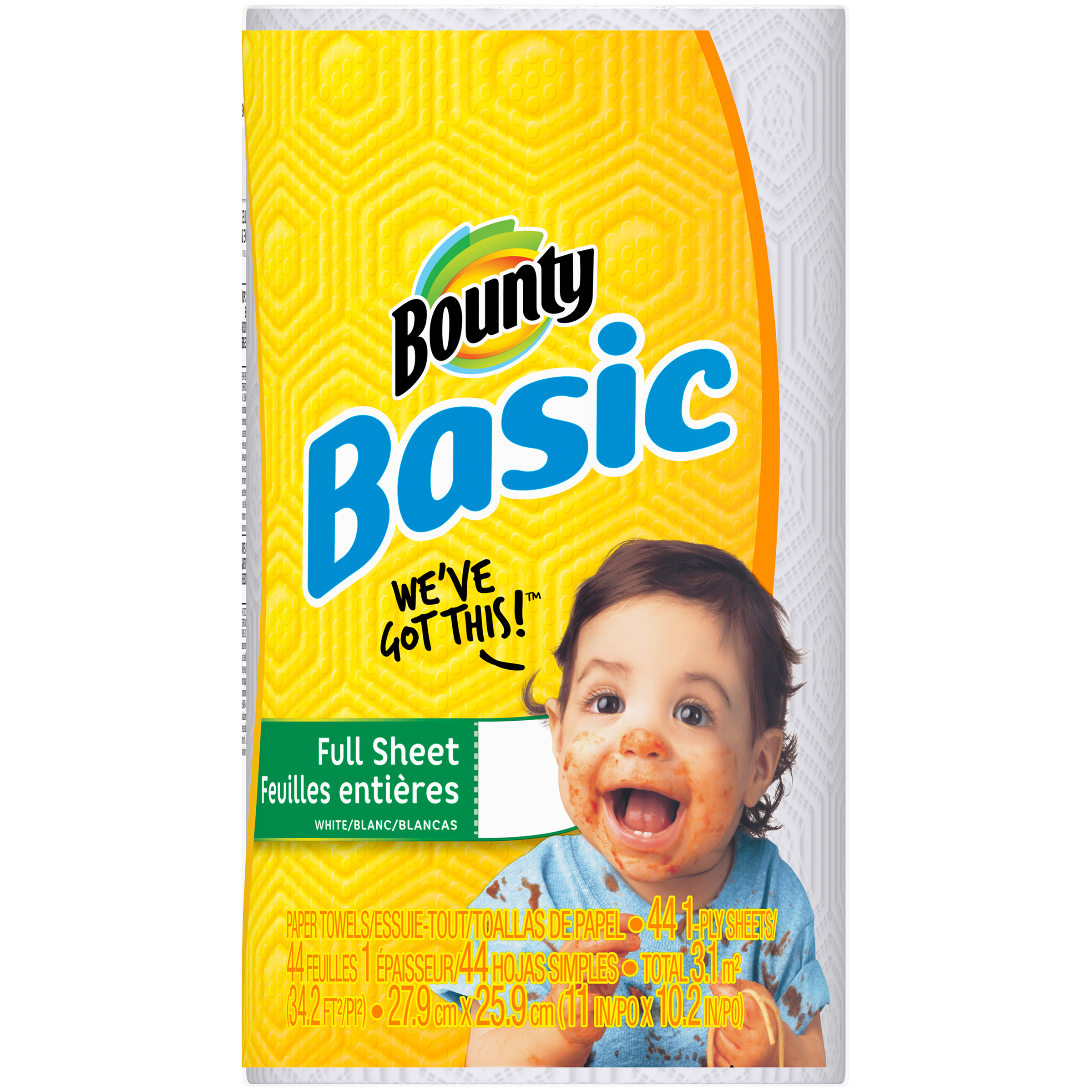 Bounty Basic Paper Towels, 44 sheets