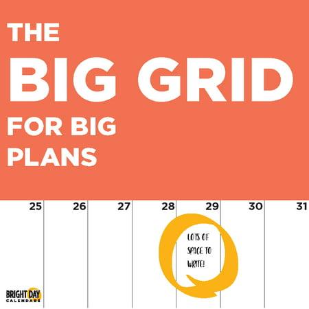 2020 Big Grids For Big Plans 16 Month 12 x 12 Wall Calendar Organize Planning (Wall Calendar Big Print)
