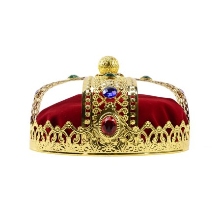 Medieval Men Deluxe Crown Prom King Pageant Theater Play Prop Costume Accessory (Halloween Crowns Pageants)