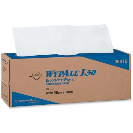 Wypall, KCC05816, L30 Light Duty Wipers, 6 / Carton, (Wypall L30 Roll Wipers)