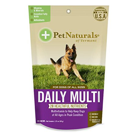 Daily multi pour chiens, multivitamines Chew Pack 1, expédition rapide, Marque TableCraft