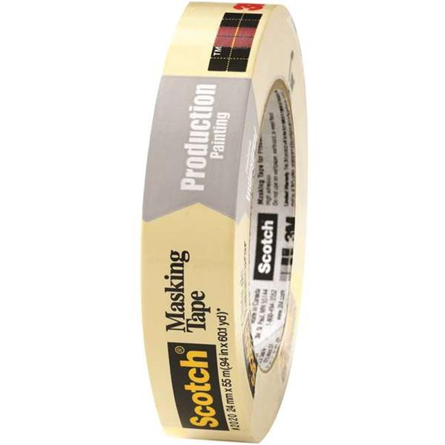 Scotch T935202012PK 1 in. x 60 yards 2020 Masking Tape, Natural - Pack of 12