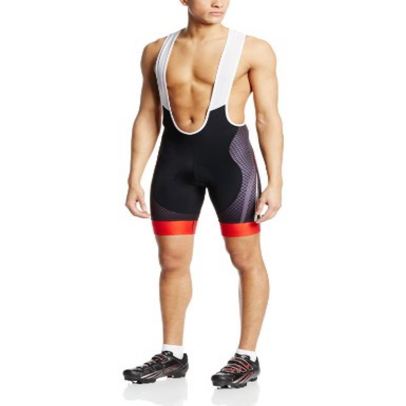 Primal Wear Men's Virex Helix Bib Cycling Shorts, Red, X-...