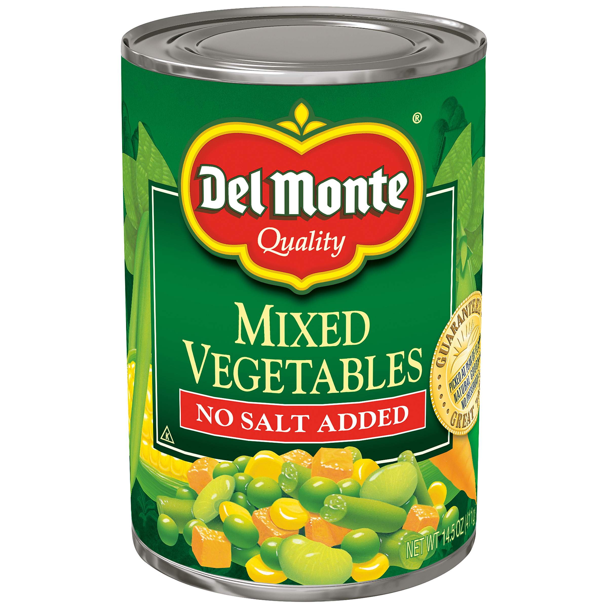 Del Monte Mixed Vegetables, No Salt, 14.5 Oz (Case of 12) by Del Monte Foods Inc
