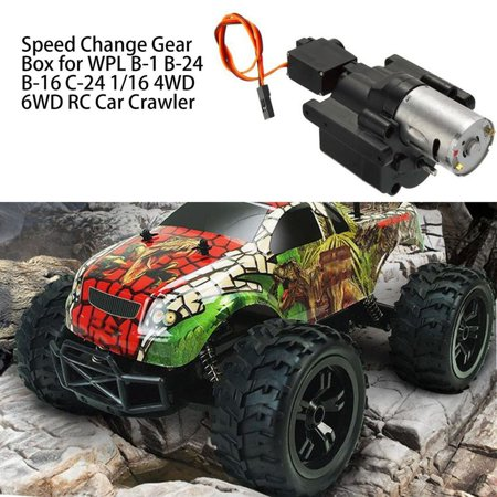 Speed Change Gear Box for WPL B-1 B-24 B-16 C-24 1/16 4WD 6WD RC Car Crawler 10km/h-30km/h Remote Control Parts & Accessory - image 3 de 10