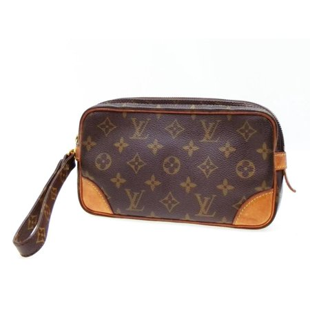 Marly Dragonne Pochette Monogram Pm 232726 Brown Coated Canvas