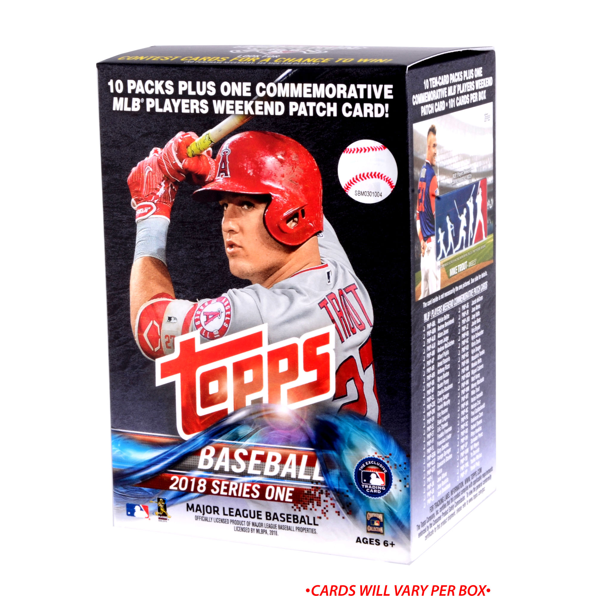 2018 Topps Baseball Series 1 Factory Sealed 10 Pack Blaster Box - No Size