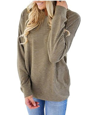 bcd244d0e87adc ... shipping on orders over $35. Free pickup. Product Image JustVH Women's  Long Sleeve Casual Sweatshirt Pullover Loose Tunic Shirts Blouse Tops With  Pocket