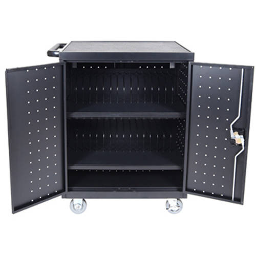 Luxor LLTP32-B 32 Laptop/Chromebook Charging Cart with Timer