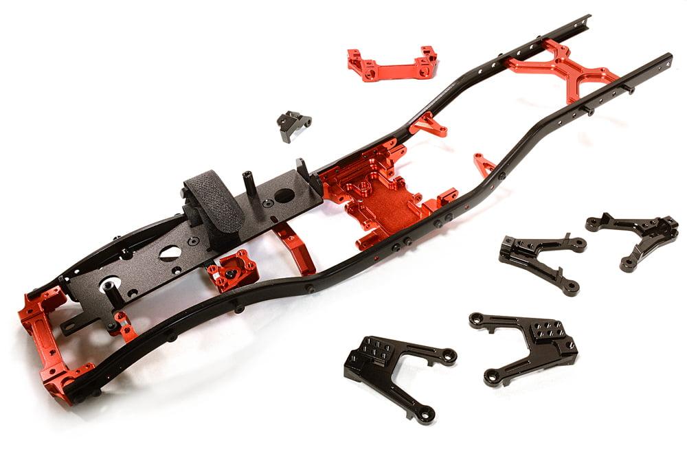 2 for Axial Ridgecrest /& Wraith Integy RC Model Hop-ups OBM-23030GUN CNC Machined Alloy 5 Spoke Beadlock 2.2 Wheels