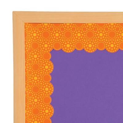 IN-13713499 Lots of Dots Orange Bulletin Board Borders Per Dozen 2PK