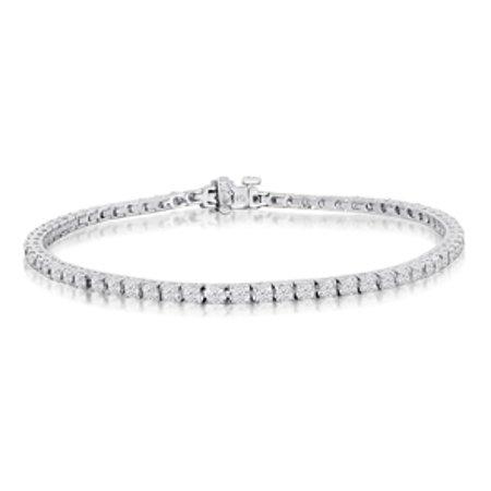 8 Inch 3 42 Carat Diamond Tennis Bracelet In 14k White Gold