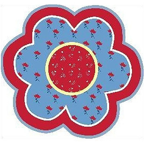 Fun Rugs Fun Shape High Pile Bandana Flower Area Rug