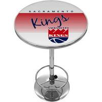 Sacramento Kings Hardwood Classics NBA Chrome Pub Table