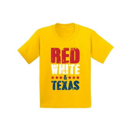 Awkward Styles Red White & Texas Shirt for Kids American Youth USA Flag Shirts Texas Tshirt 4th of July Shirts for Girls Patriots Tshirt Gifts from Texas USA Shirts for Boys America Kids Shirt