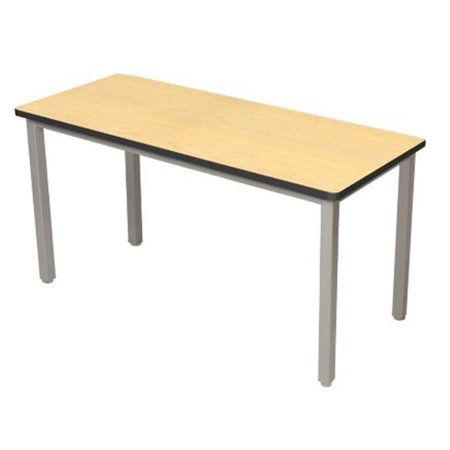 Lobo Tables LOB9111M-ABP 4 8 in. x 9 6 in. Fully Welded Lobo Table, Black Frame and Adjustable Big Paw Legs, 1.7 5 in. Maple Top Top ships as 2 pieces