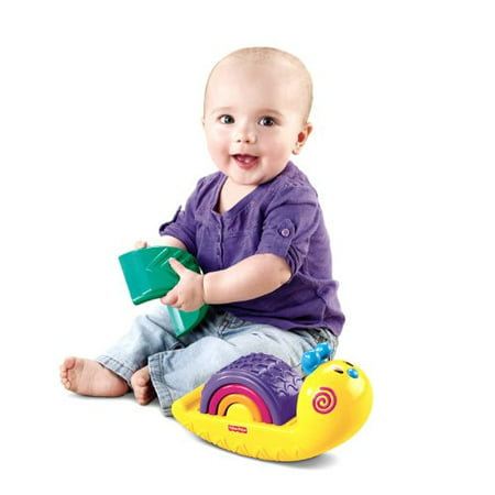 Fisher-Price Growing Baby: Rainbow Snail Stacker (Fisher Price Growing Baby Elephant Shape Sorter)