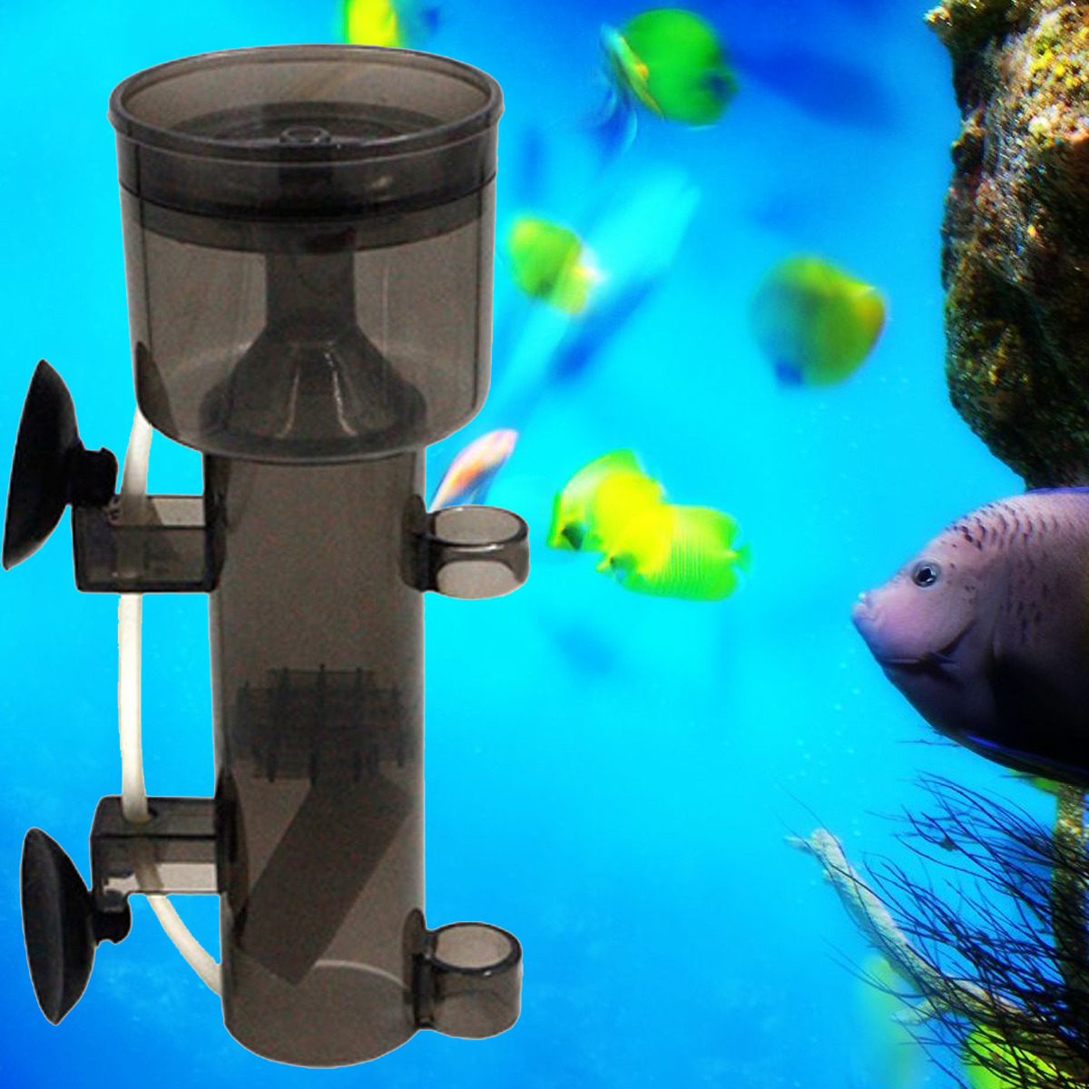 Moaere Fish Tank Protein Skimmer Defoamer fractionator with Suction Cup for Aquarium