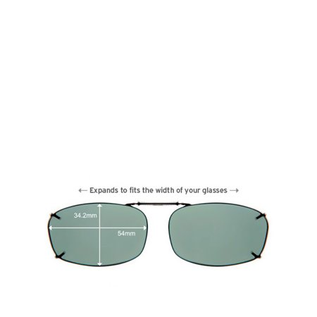 d06d2b7789 Solar Shield - Polar TX ClipOn Rec5 54 Sunglasses - Walmart.com