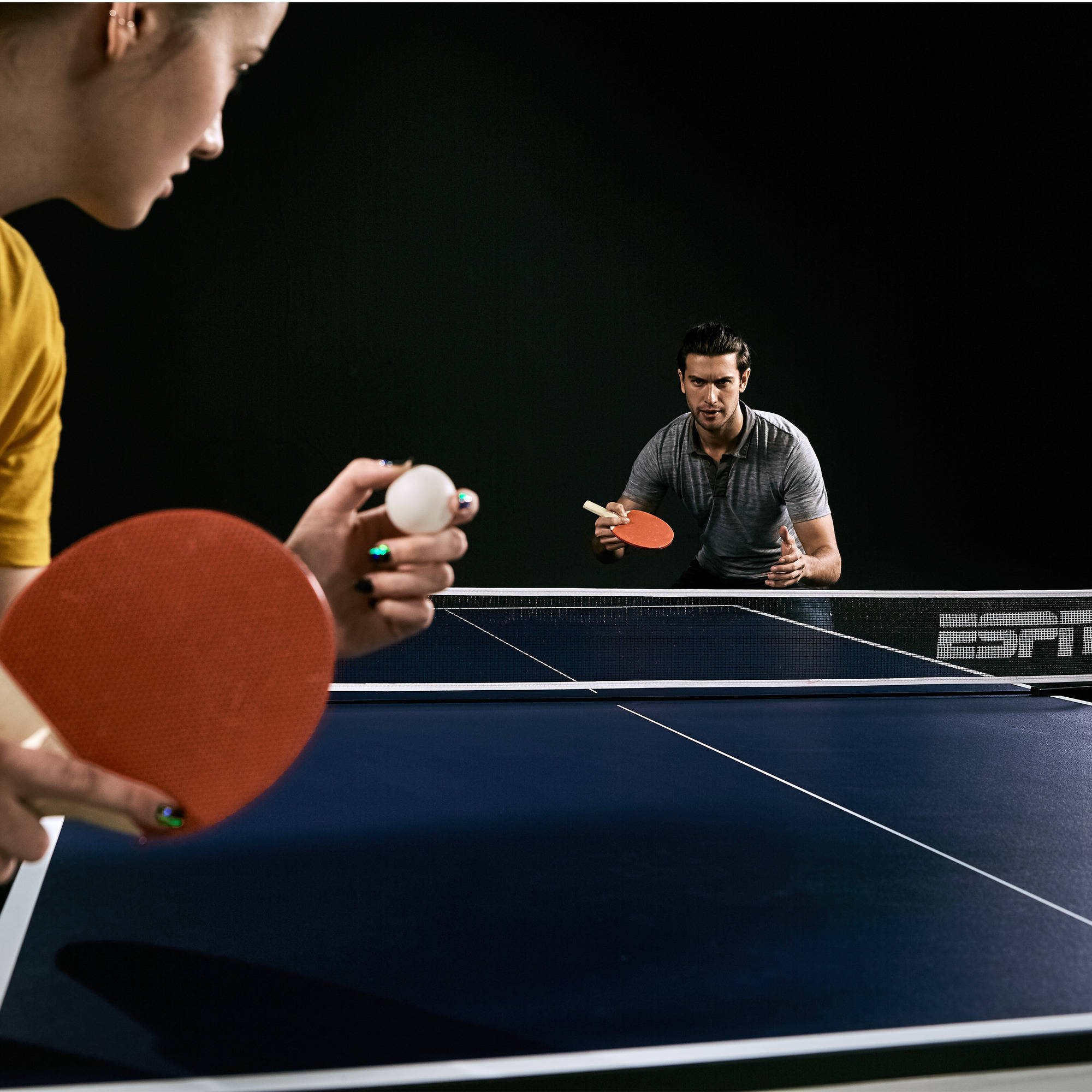 Table Tennis Table ESPN Ping Pong Official Size Foldable Professional W/  Cover