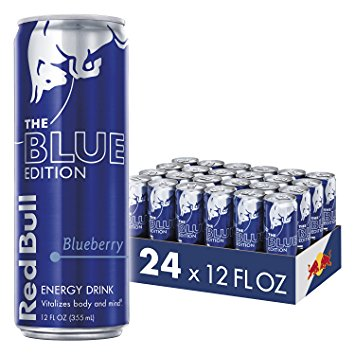 Red Bull Blue Edition Energy Drink, Blueberry, 12 Fl Oz, 24 Count