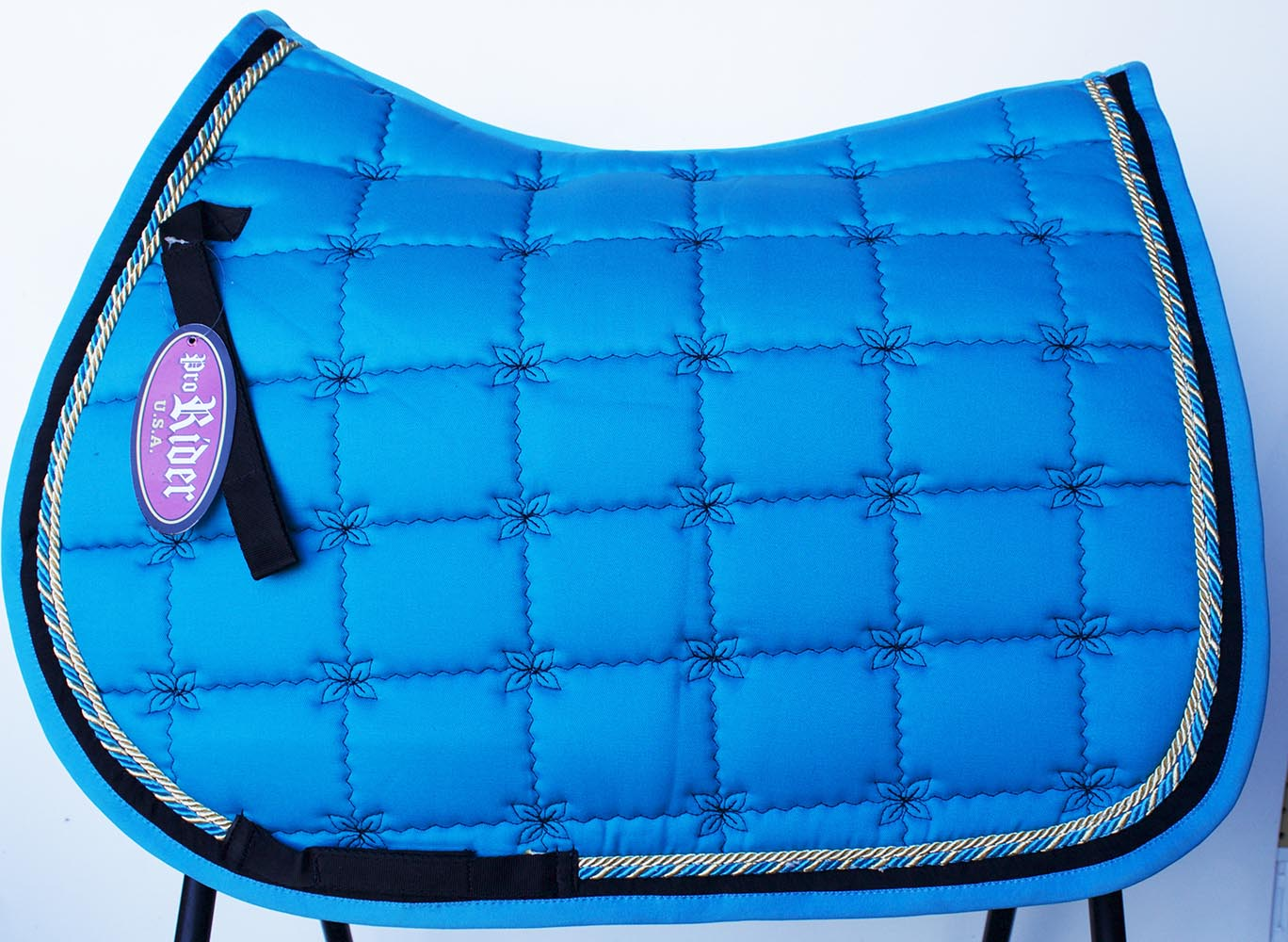 Horse Quilted English Saddle Pad Tack Trail Riding Contoured Turquoise 72f14 Walmart Com Walmart Com
