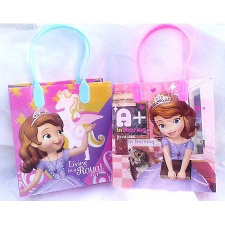 1st Birthday Party Loot Bags - 12PCS Disney Princess Sofia The First Goodie Party Favor Gift Birthday Loot Bags