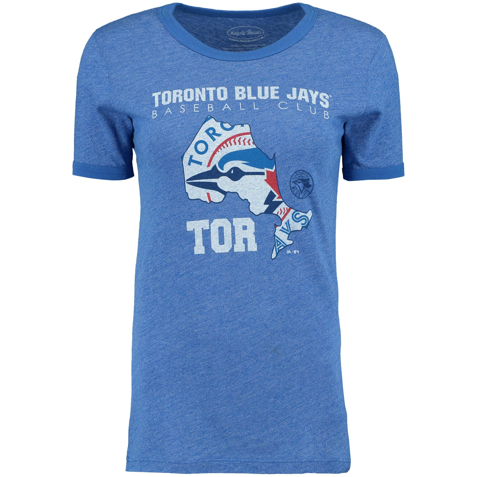 Toronto Blue Jays Majestic Threads Women's State Sport T-Shirt - Royal