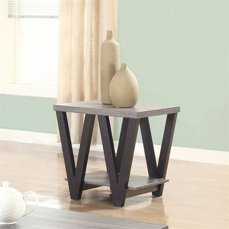 Bowery Hill 1 Shelf End Table in Antique Gray and Black - image 1 de 1